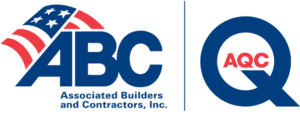 Logo for the Associated Builders and Contractors and the AQC.