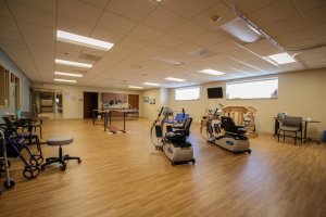Workout room at an assisted living home.