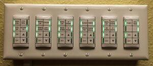 An electronics control panel.