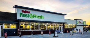 A photo of a new convenience store HyVee Fast and Fresh.