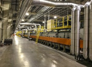 A large industrial facility room.